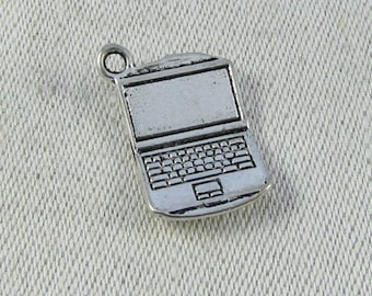 1 or 12, Laptop Computer, Computer Charm, PC Charm, Computers, Geek Gift, Gift for Nerd, Electronics, Coder Gift, STEM, OCU001