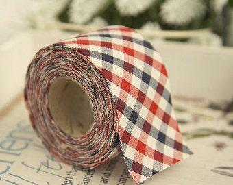 """2"""" Cotton Bias Tape Classic Checkered 1 Roll 10 Yards 46210"""