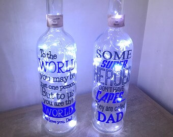 Father's Day led light up bottle