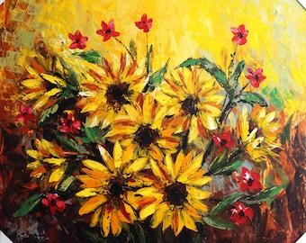 Flores de sol amarillo