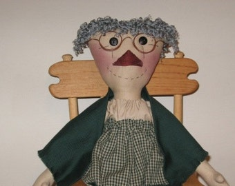 Primitive Granny Smith Doll Mailed Paper Pattern from Sew Practical, Mom and Pop Craft