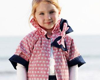 Reversible Jacket Patterns, Girls Jacket Pattern, Coat Patterns, Jacket Sewing Patterns, PDF Pattern, Childrens Sewing Pattern RUFFLE JACKET