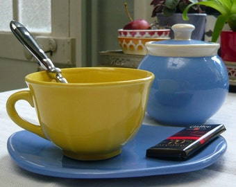 Cup and ceramic Teacup by Jeanne nail