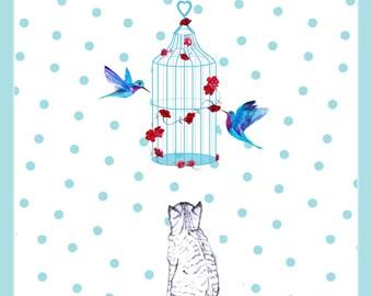birthday greetings card illustration