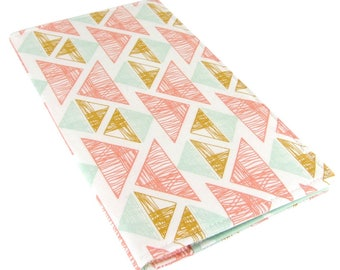 Checkbook Cover Wallet - Slim, Two Pocket Design Holds Cash And Checkbook - Geometric Fabric