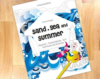 Sand, Sea and Summer Colouring Book - Beach and Ocean inspired Coloring Book for Adults (Paperback)