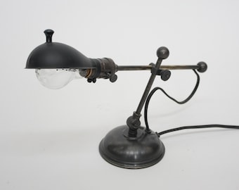 Brass Table Lamp Vintage Industrial Inspired Machinist Light UL Listed