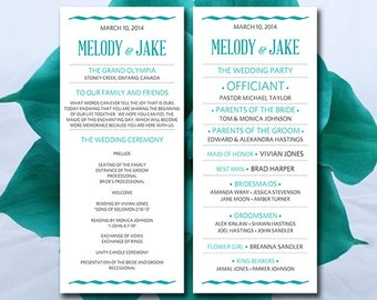 wedding program templates for microsoft word