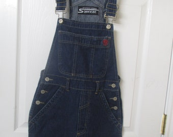bib Overall shorts Dungarees, Blue Jean Overall size Small overall shorts cargo bib overall short shorts