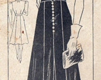 "Anne Adams 4659 ""Joan Crawford"" Highpowered Dress 1930's / SZ20 COMPLETE"