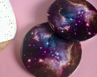 Galaxy coaster set / Drink coasters / Glass coasters / Housewarming gift / Planet coasters / Party Favors