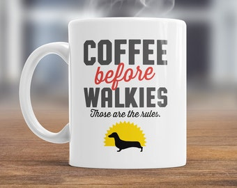 Dachshund Mug, Dachshund Gift For The Dachshund Lover Who Also Loves Coffee, Dachshund Coffee Mug, Dog Lover Gift, Dachshund Present Dog Mug