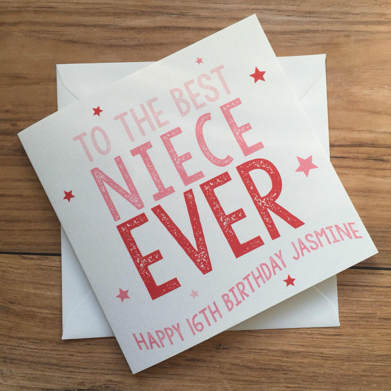 Personalised Niece Age Birthday Card