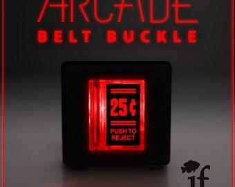 Arcade Belt Buckle... that lights up - 25 Cent Double Lines