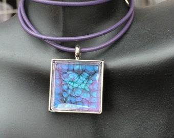Purple explosion necklace