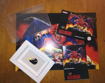 "Post and ""Demon Crest"" SNES - French instructions."