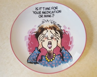 Funny Gift Finkstrom Plate Funny Plate Funny Gift for Women Finkstrom Old Age Plate Collectible Finkstrom Plate Annoyingly Honest Plate
