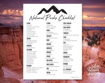 National Park Checklist, US National Parks, Traveling Checklist, Adventure/Wanderlust, Travel the United States