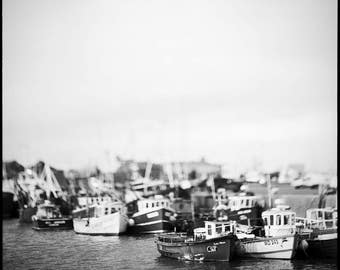 Howth Harbor, Photography Giclee Print, Limited Edition, Film, Analog, Square Format, Marina, Sea, Small or Large scale Art, Dublin, Ireland