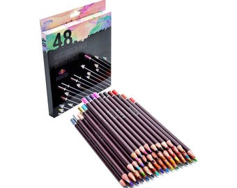 48 Professional Grade Oil Based Colored Pencils For Artist Including Skin tone Pencils For Coloring Drawing And Sketching