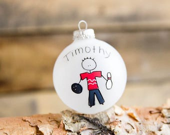 Bowling - Christmas Ornament - Personalized for Free