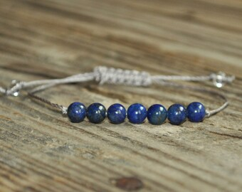 Lapis Lazuli Yoga Bracelet, Third Eye Chakra, Gemstone Therapy, Meditation Bracelet, Wish Bracelet, Reiki