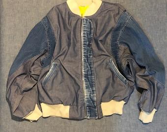 FRENCH DENIM BOMBER jacket