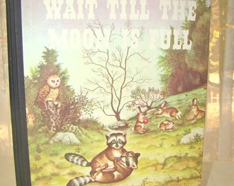 """Vintage Picture Book. Margaret Wise Brown. Good Night Moon """"Wait Till the Moon Is Full""""- Hardback - Kids Book"""