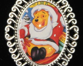A. A. Milne Winnie the Pooh Christmas Santa Necklace Ernest Shepard Illustrations Disney Classic Friendship