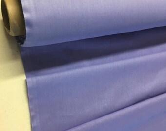 Plain lavender blue 100% cotton fabric