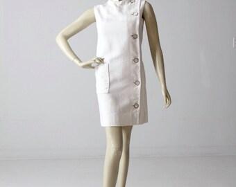 vintage 60s Marie McCarthy for Larry Aldrich mod shift dress