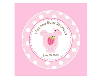 Party Cupcake Topper 2'' Printable  - Party Circles PERSONALIZED (Cupcake Topper / Favor Tags)