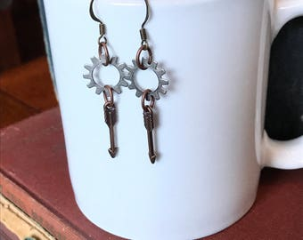 Steampunk Jewelry, Steampunk Earrings