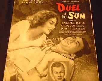 Gotta Get Me Somebody to Love Sheet Music DUEL in the SUN movie 1946 Gregory Peck Jennifer Jones Joseph Cotten Lionel Barrymore 1940s