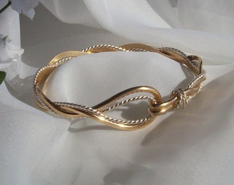 14K Gold Sterling Twist Bracelet