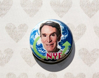 Bill Nye the Science Guy- one inch pinback button magnet