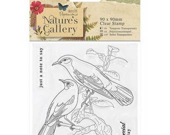 Stamp clear transparent scrapbooking Papermania NATURE's GALLERY