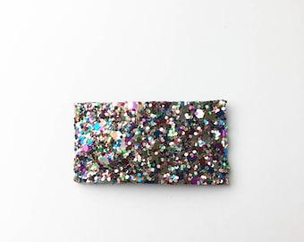 Multicolored chunky glitter snapclip/ chunky glitter snapclip