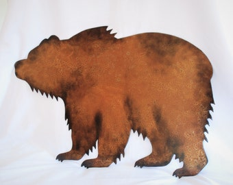 Metal Grizzly/Brown Bear