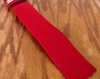 """vtg 40s 50s Arrow ROCKABILLY Red Striped Silk Skinny Tie Square End 51"""" 2"""""""