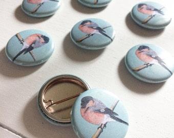 Bullfinch 25mm Pin Badge