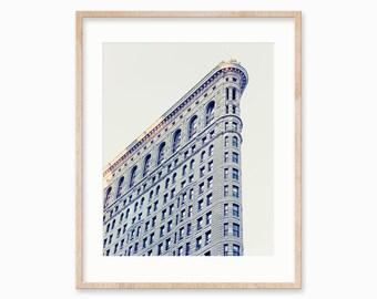 New York Print, Flatiron Building, New York City Photography, NYC Print, Minimalist Architecture Art Print, 16x20 Print, 20x24 Poster