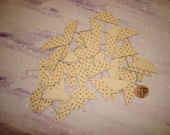 Set of 40 heart 02882 cardboard umbrella