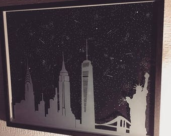 Original Night Time In New York (Framed) (1 AVAILABLE)