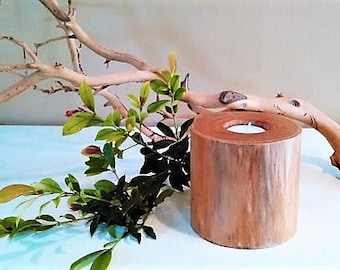 Pine wood candle holder - Rustic candle - Wood tree branch candle  - Log candle - Cabin decor - Woodland decor - Home and Living