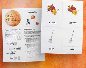 3-part cards: Autumn Fun (printable PDF)