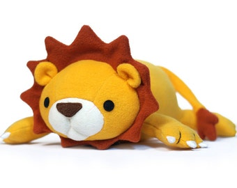 Lucky Lion stuffed animal Pattern - PDF Sewing pattern  Plush