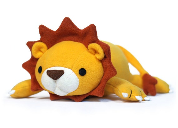 Lucky Lion stuffed animal Pattern PDF Sewing pattern Plush