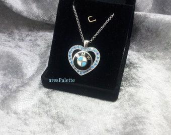 BMW ''Blue Love'' Necklace-Handmade-925 silver