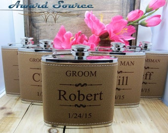 Set of 4 Personalized Flask